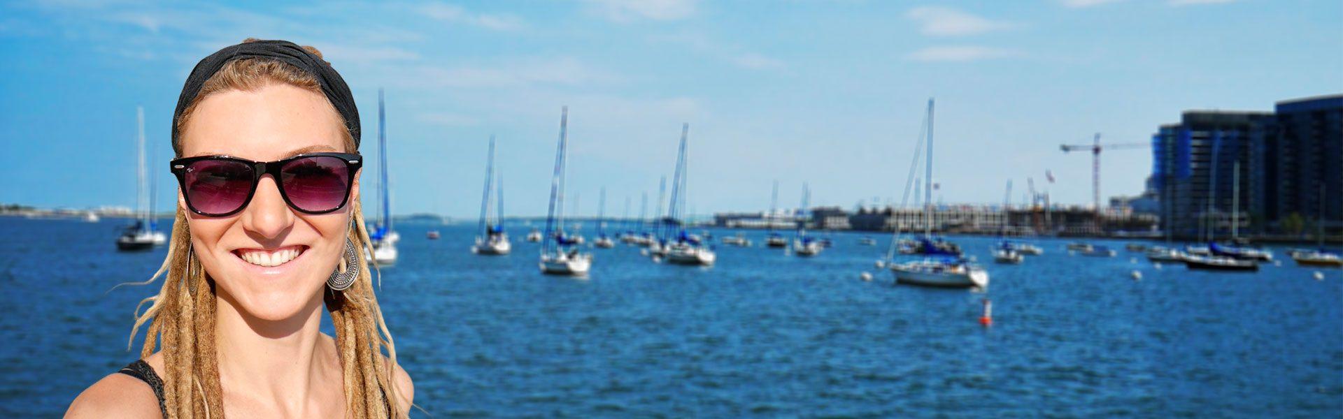 Rasta girl at Boston Harbor