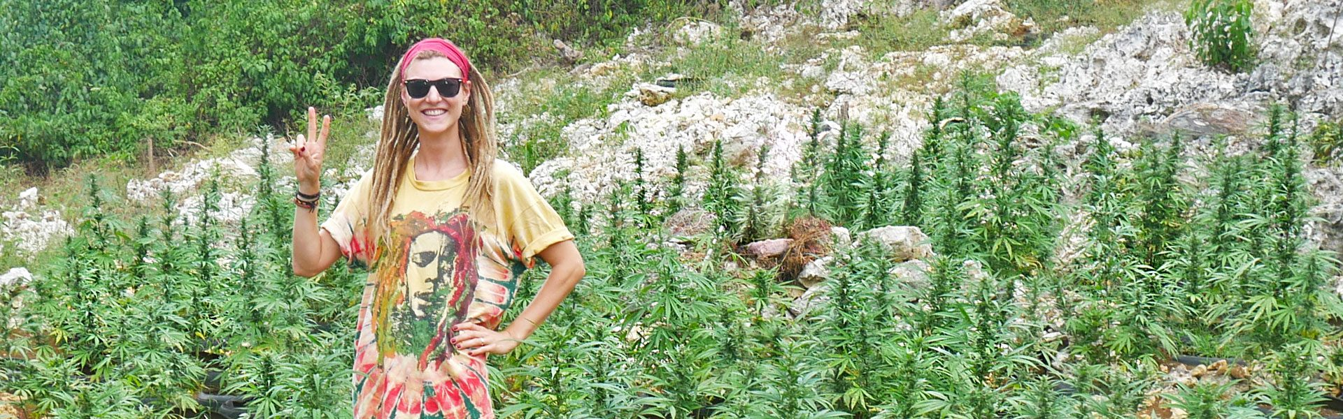 Rasta girl at weed farm near Negril, Jamaica