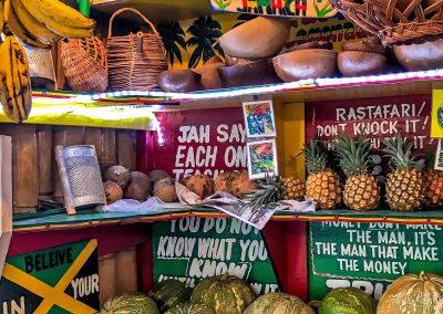 Vegan restaurant at Seven Mile Beach, Negril, Jamaica