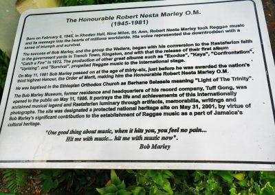 Kingston - Bob Marley Museum Information