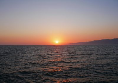 Sunset from Santa Monica Pier in Los Angeles, CA