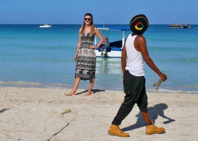 Rasta with ganja at Seven Mile Beach, Negril, Jamaica