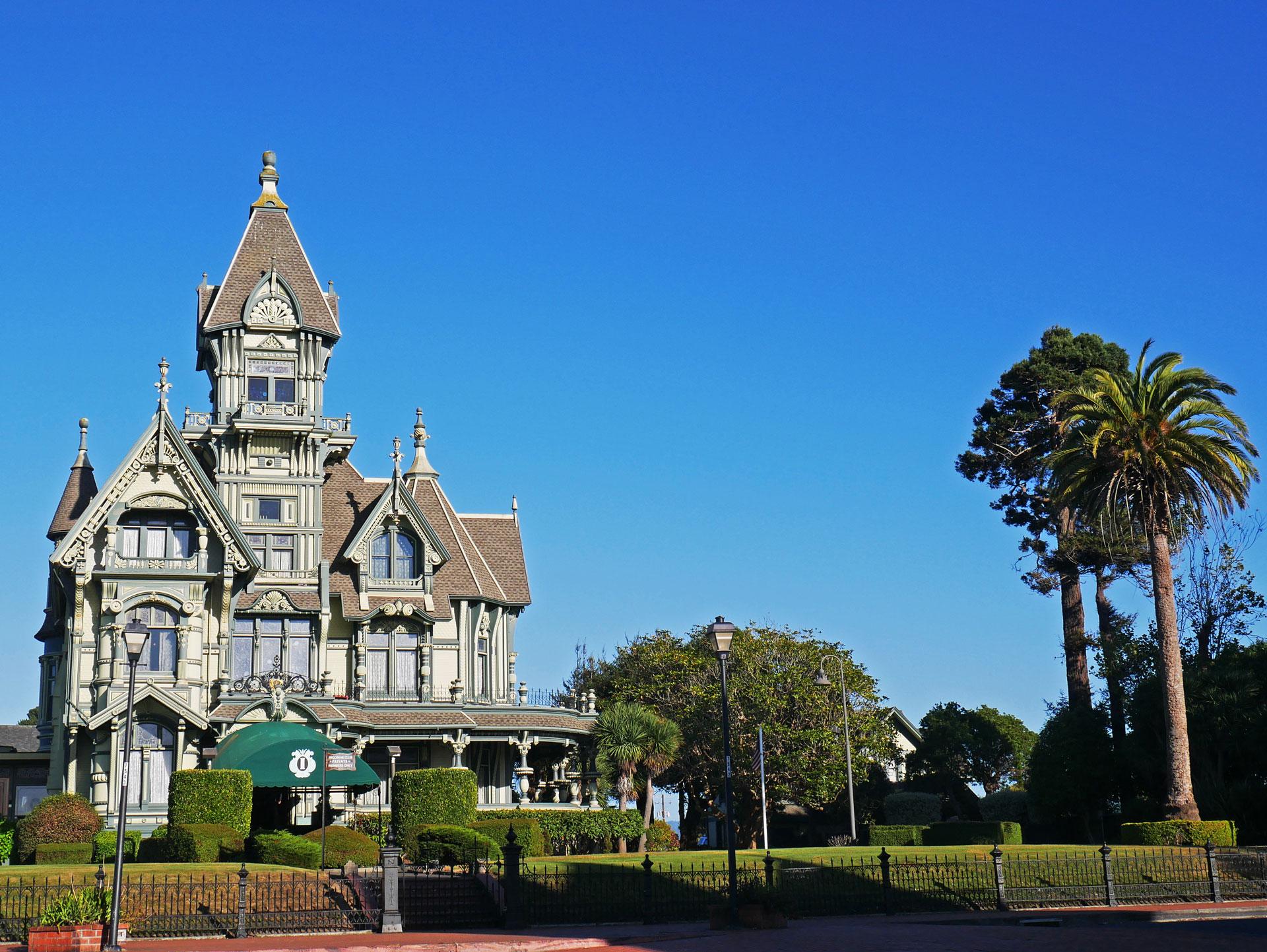 Victorian house Carson Mansion in Eureka, CA