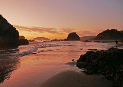 Northern California - Moonstone Beach Sunset Surfer