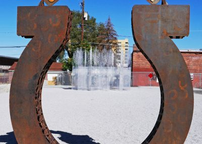 Art in form of a horseshoe in Reno, NV