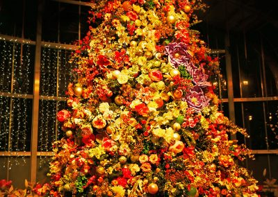 Flower Christmas tree at Dominion Energy GardenFest of Lights in Richmond, VA