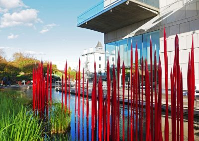 Chihuly's Red Reeds at Virginia Museum of Fine Arts in Richmond, VA