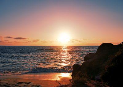 Sunset at La Jolla Beach in San Diego, CA