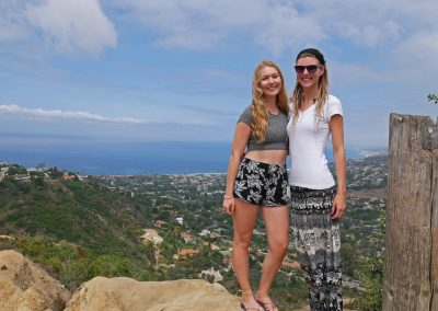 Sisters overlooking La Jolla in San Diego, CA, and the West Coast from Mt. Soledad viewpoint