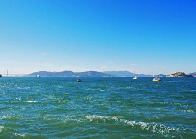 San Francisco Bay with Golden Gate Bridge and Alcatraz Island