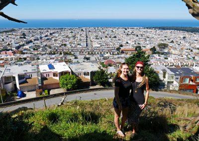 Sisters at Grandview Park overlooking San Francisco, CA