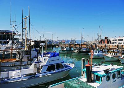 Several lovely boats at Port of San Francisco, CA