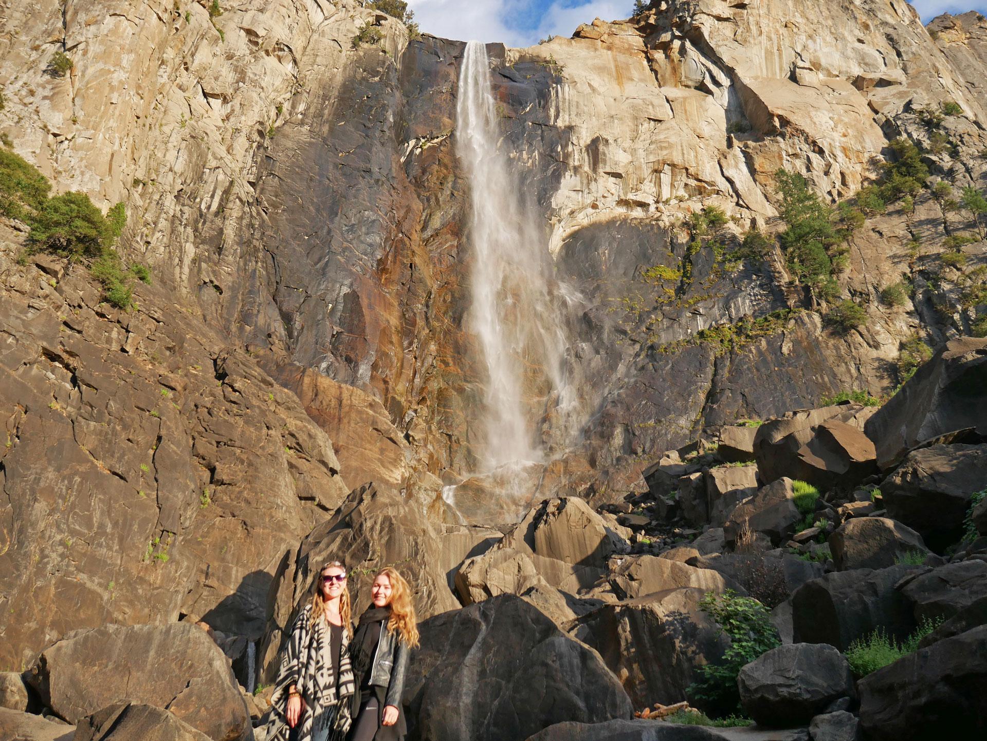Sisters at Bridalveil Fall in Yosemite National Park