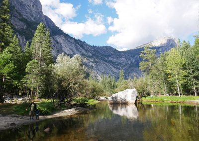 Mirror Lake reflection in Yosemite National Park