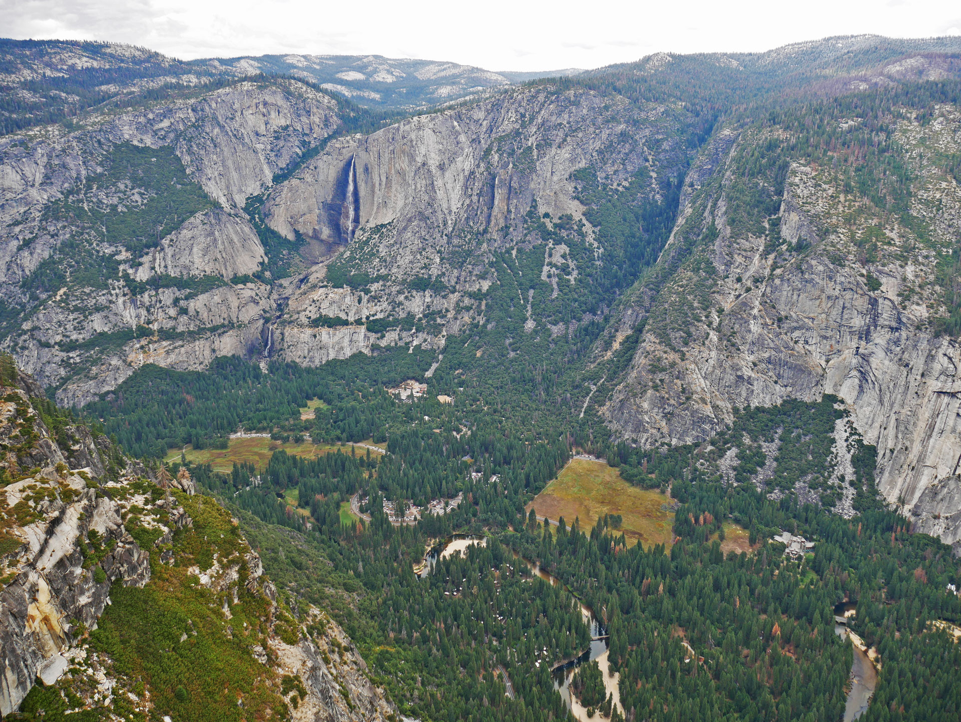 Glacier Point in Yosemite National Park with valley view