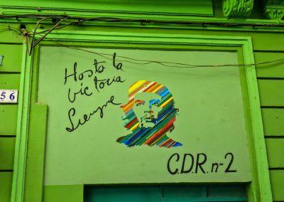 Colorful Che Guevara mural in Havana's old town, Cuba