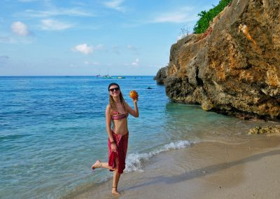 Montego Bay - Enjoying a Coconut at a small Beach