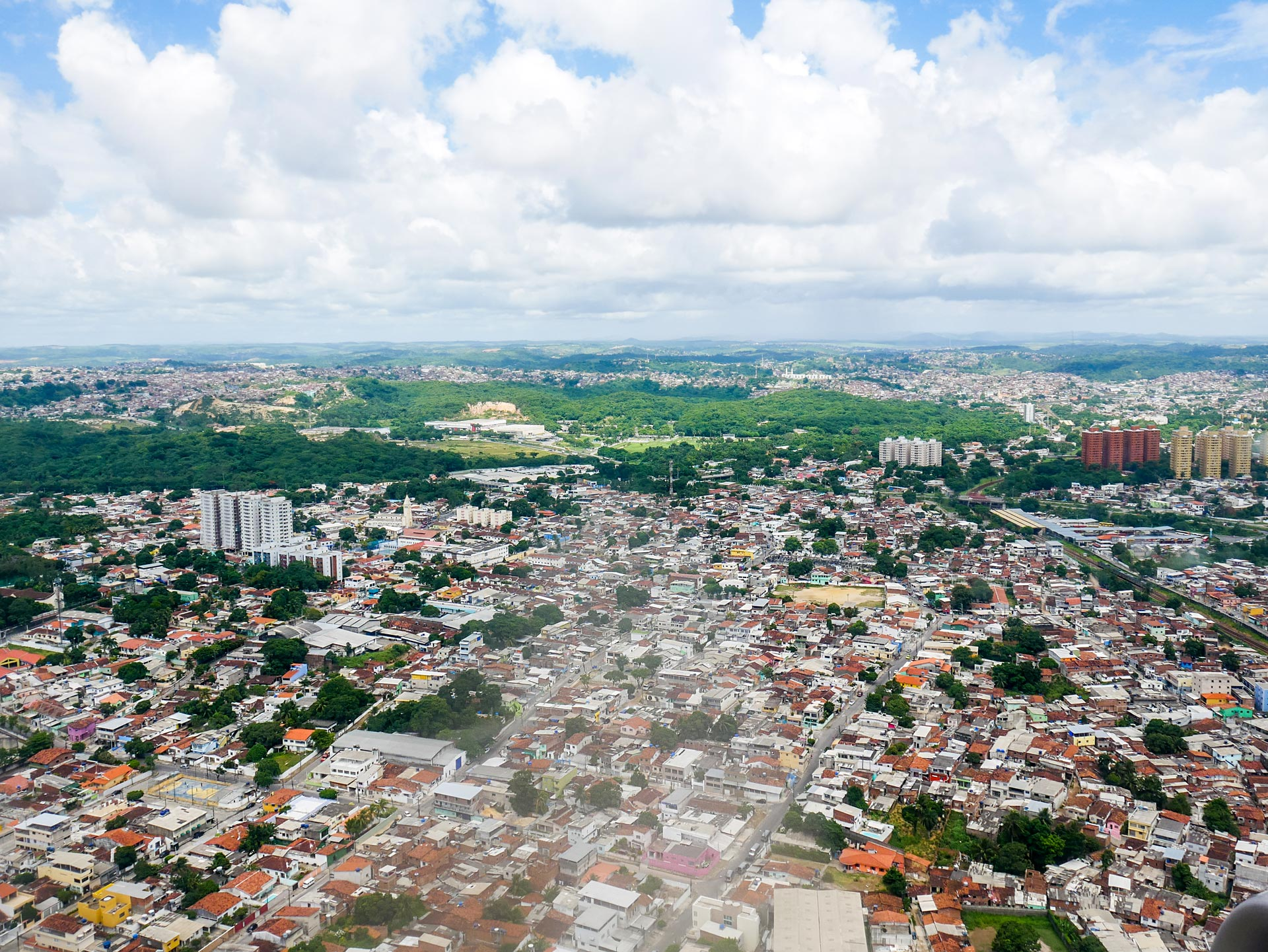 View of Recife, Brazil, from plane