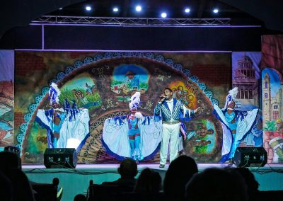 Singer and dancers at hotel entertainment show in Varadero, Cuba