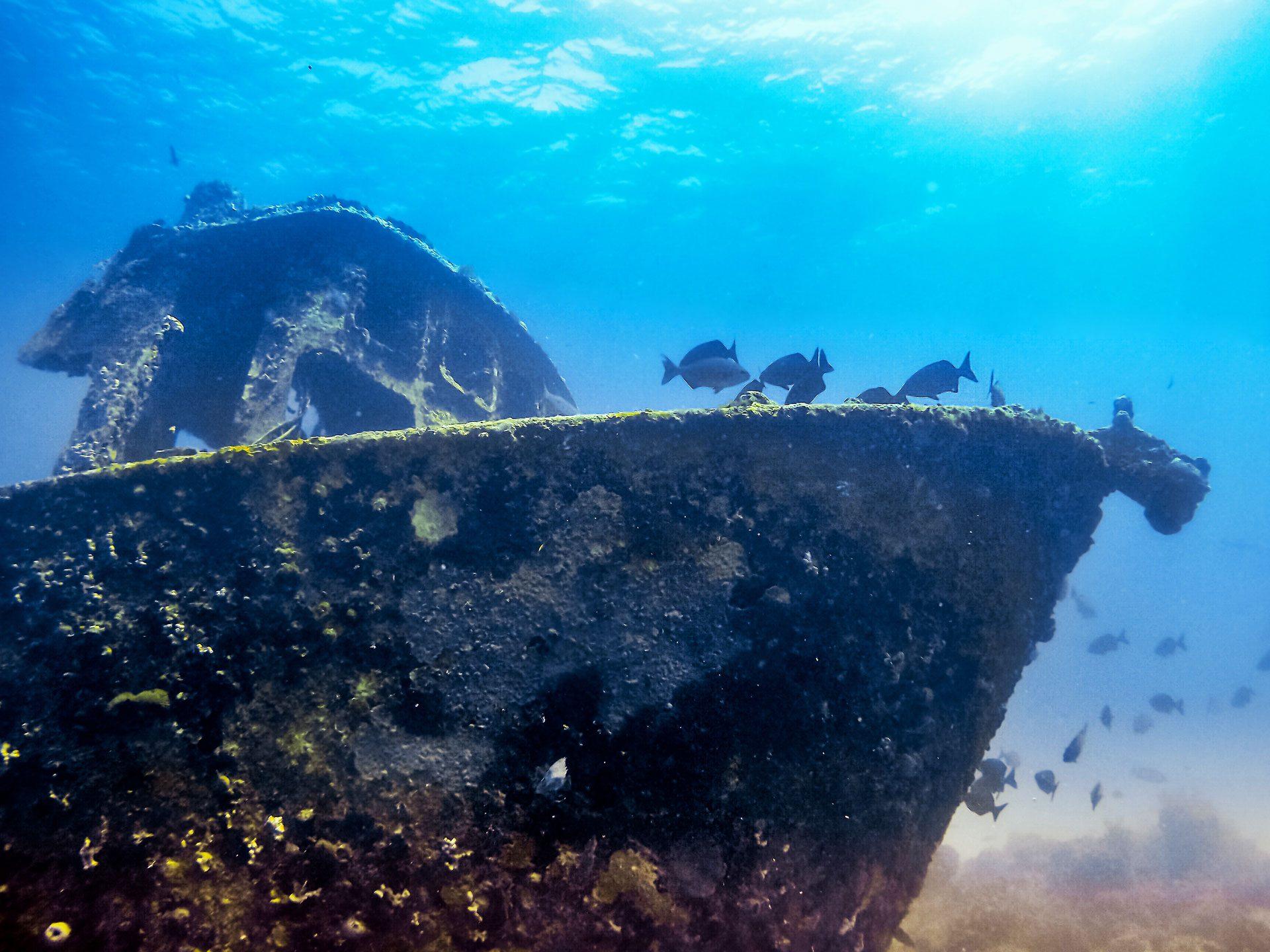 Shipwreck in ocean close to Varadero, Cuba