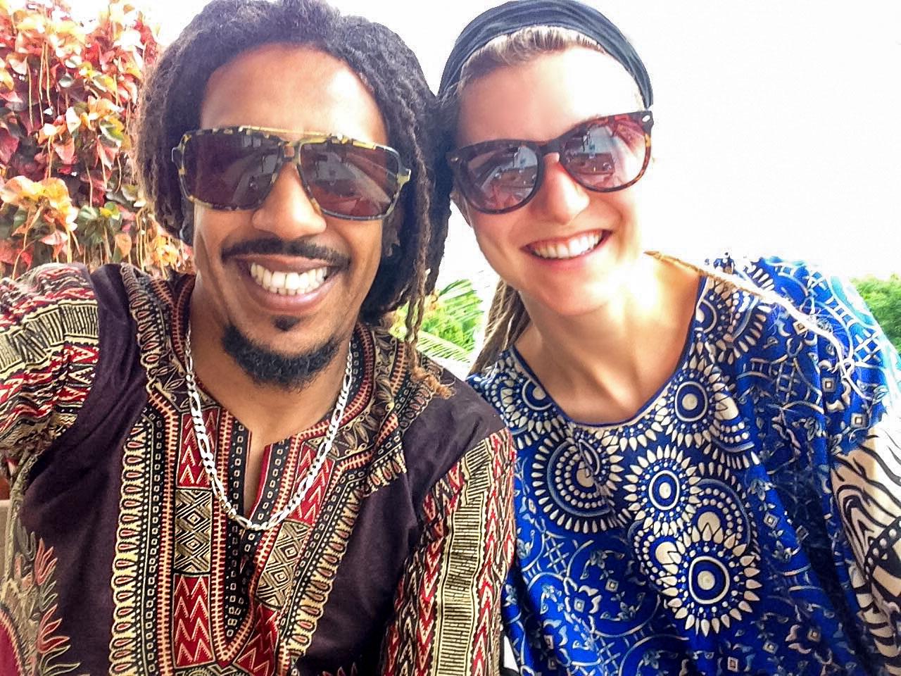 Dreadlock couple in Niterói, Brazil