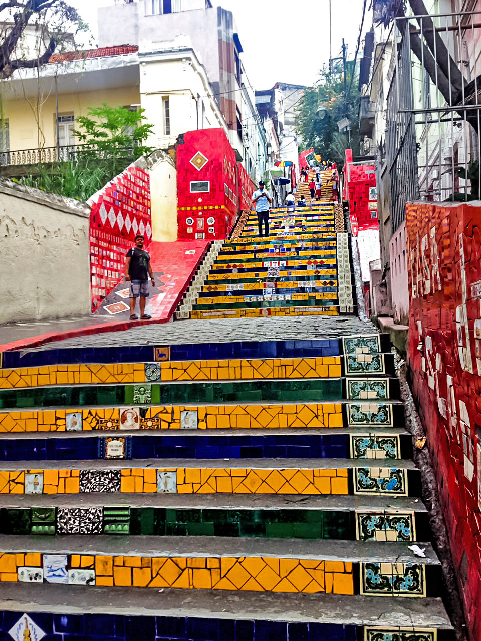 Colorful stairs of Escadaria Selarón in Rio de Janeiro, Brazil