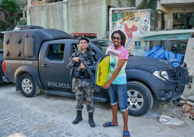Rio de Janeiro - With a Policewoman in a Favela