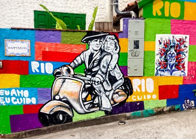 Rio de Janeiro - Colorful Graffiti in Favela