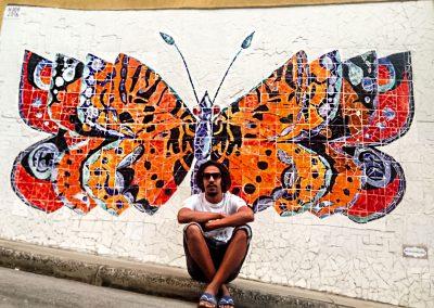 Rio de Janeiro - Colorful Mosaic Mural in Favela
