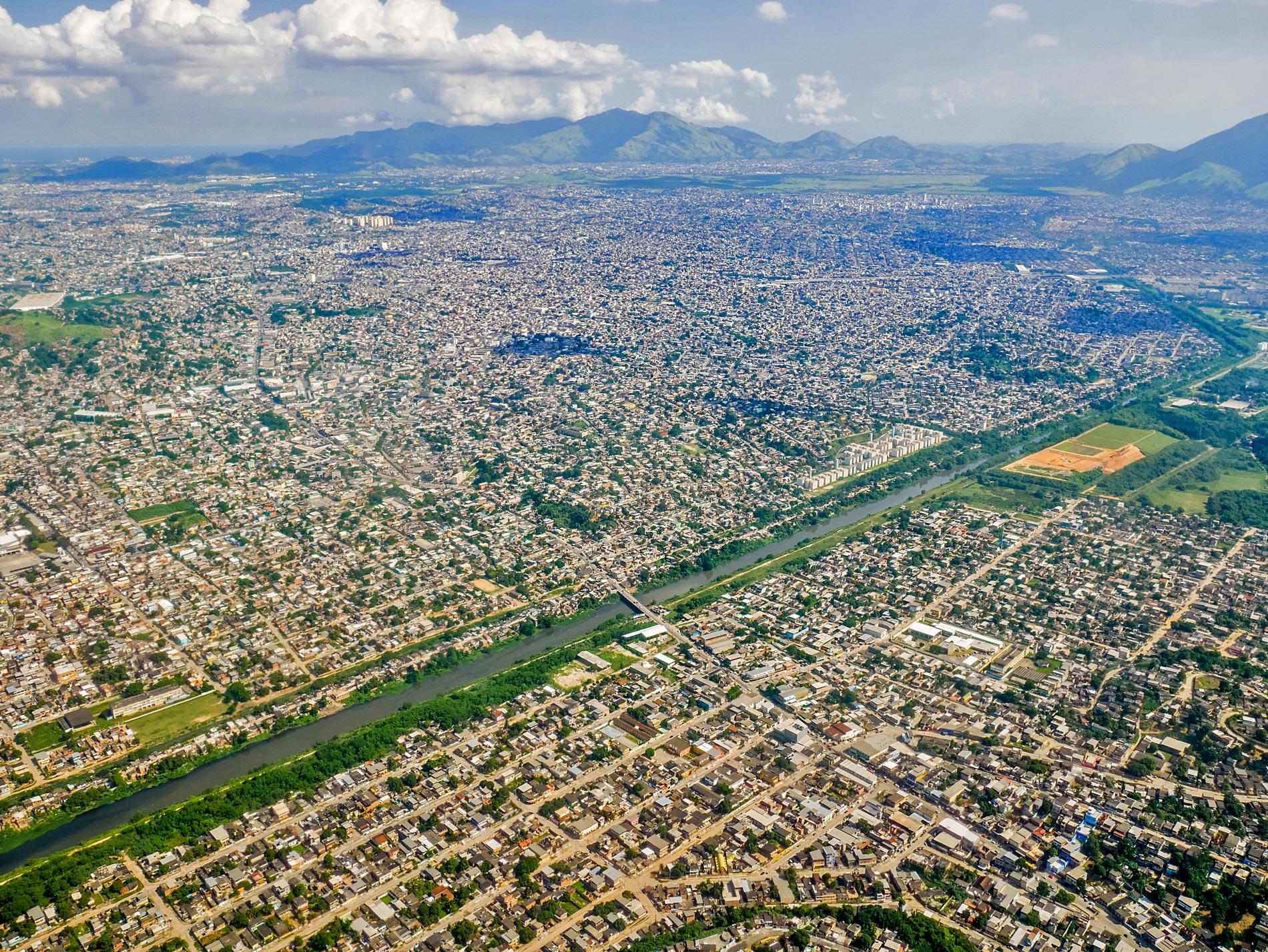 View of Rio de Janeiro from plane, Brazil