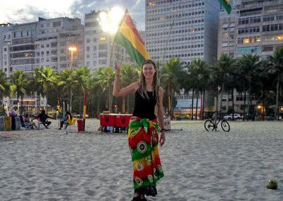 Rio de Janeiro - Rasta Flags at the Beach