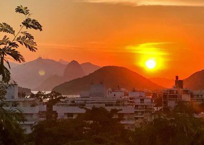 Niterói - Sunset from the Airbnb Place