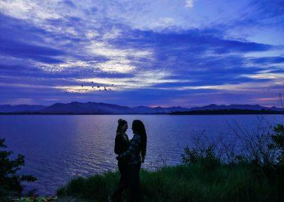 Lagoa de Ibiraquera - A Blue Sunset